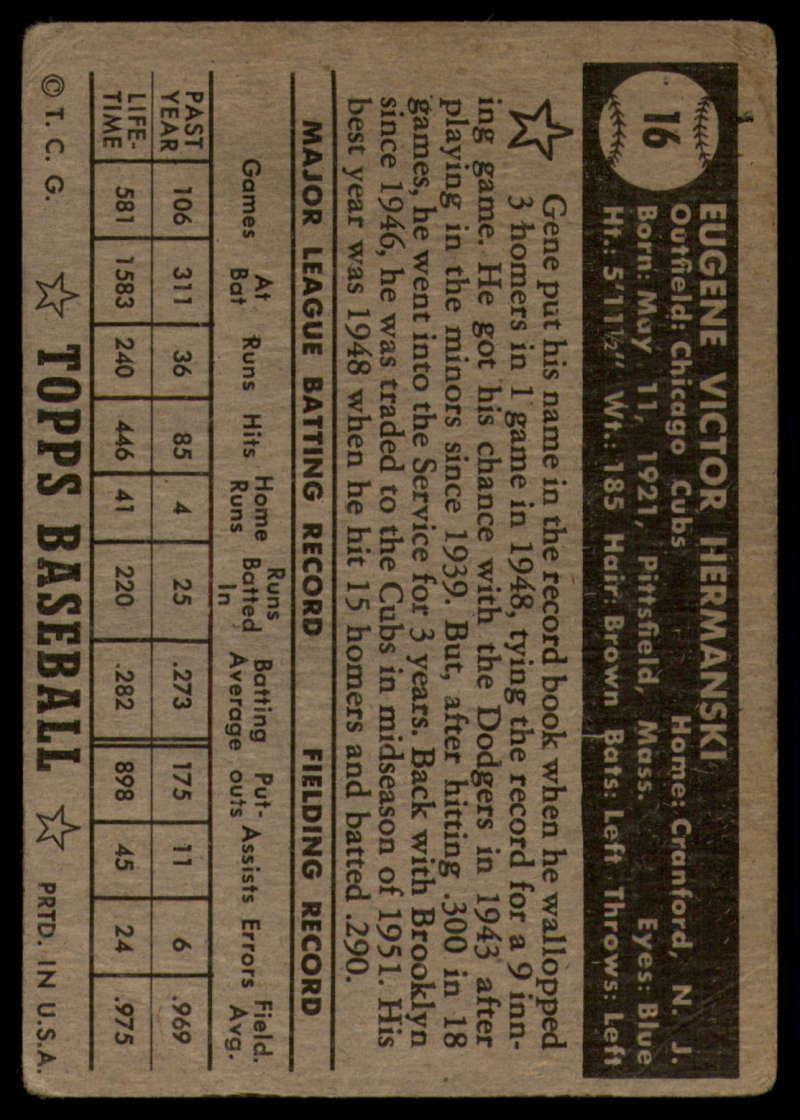 1952-Topps-Baseball-Black-Back-1-45-Complete-your-set-Pick-your-card thumbnail 73