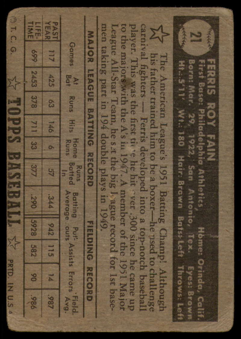 1952-Topps-Baseball-Black-Back-1-45-Complete-your-set-Pick-your-card thumbnail 109