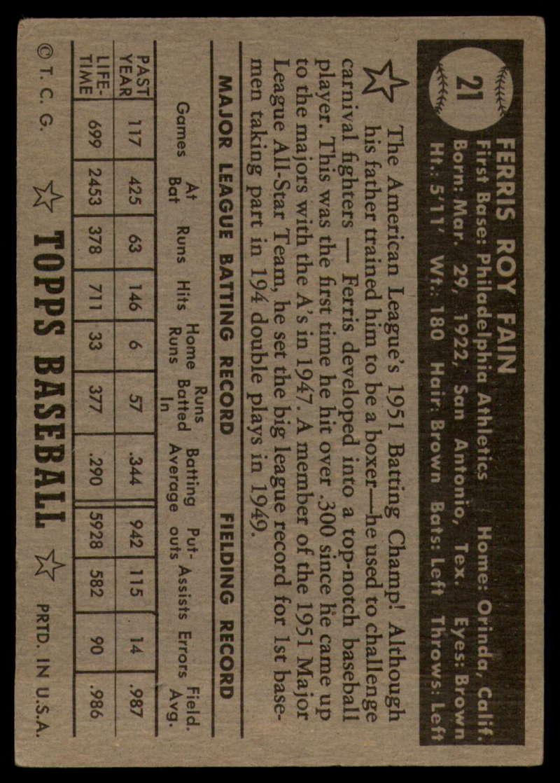 1952-Topps-Baseball-Black-Back-1-45-Complete-your-set-Pick-your-card thumbnail 111