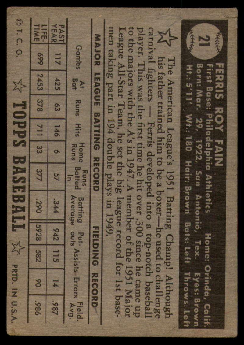 1952-Topps-Baseball-Black-Back-1-45-Complete-your-set-Pick-your-card thumbnail 113