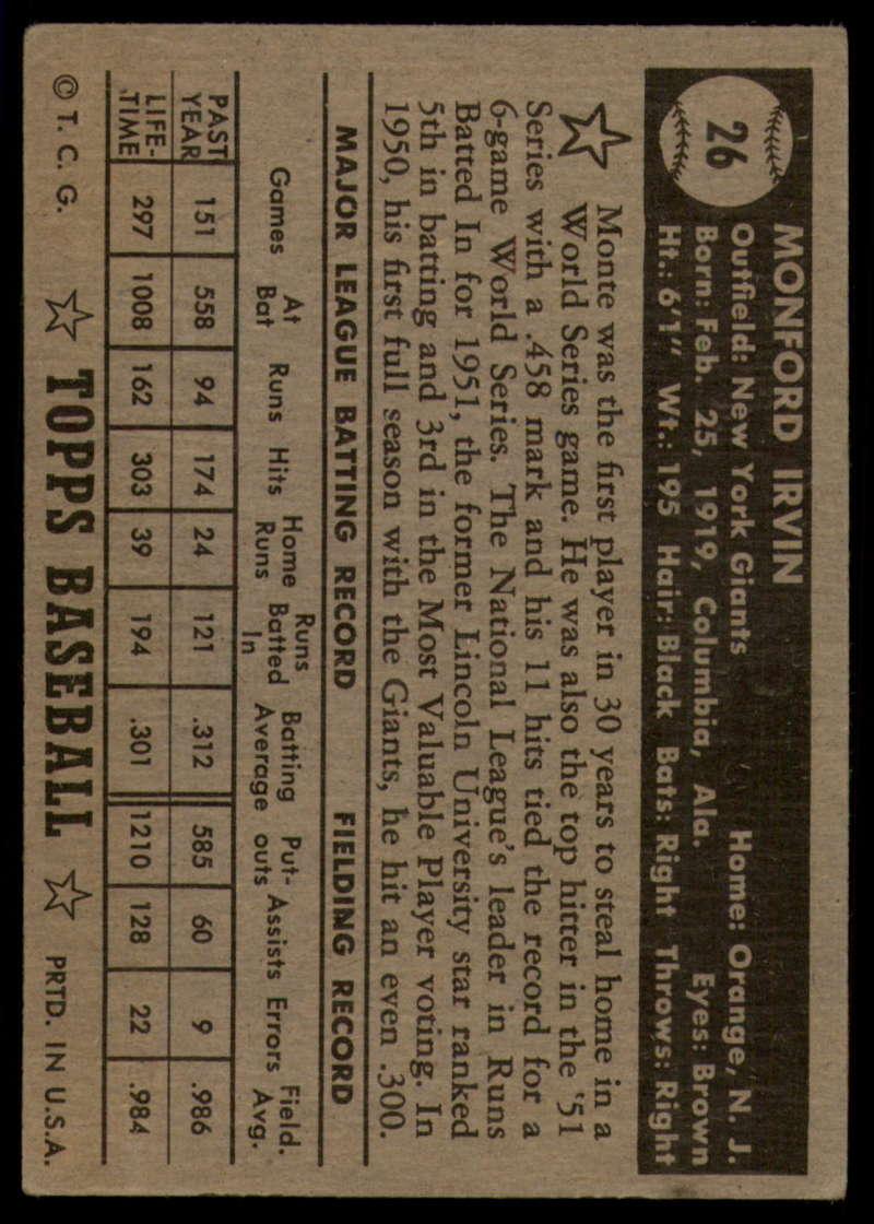 1952-Topps-Baseball-Black-Back-1-45-Complete-your-set-Pick-your-card thumbnail 133