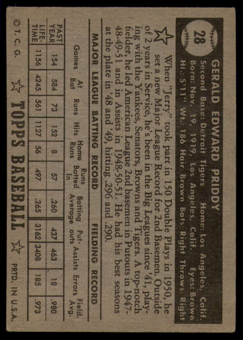1952-Topps-Baseball-Black-Back-1-45-Complete-your-set-Pick-your-card thumbnail 141