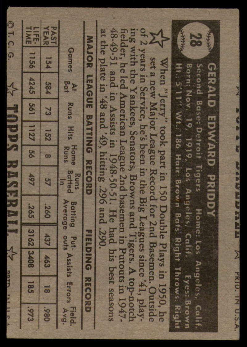 1952-Topps-Baseball-Black-Back-1-45-Complete-your-set-Pick-your-card thumbnail 143