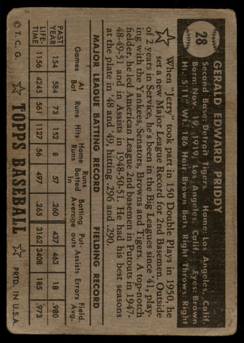 1952-Topps-Baseball-Black-Back-1-45-Complete-your-set-Pick-your-card thumbnail 147