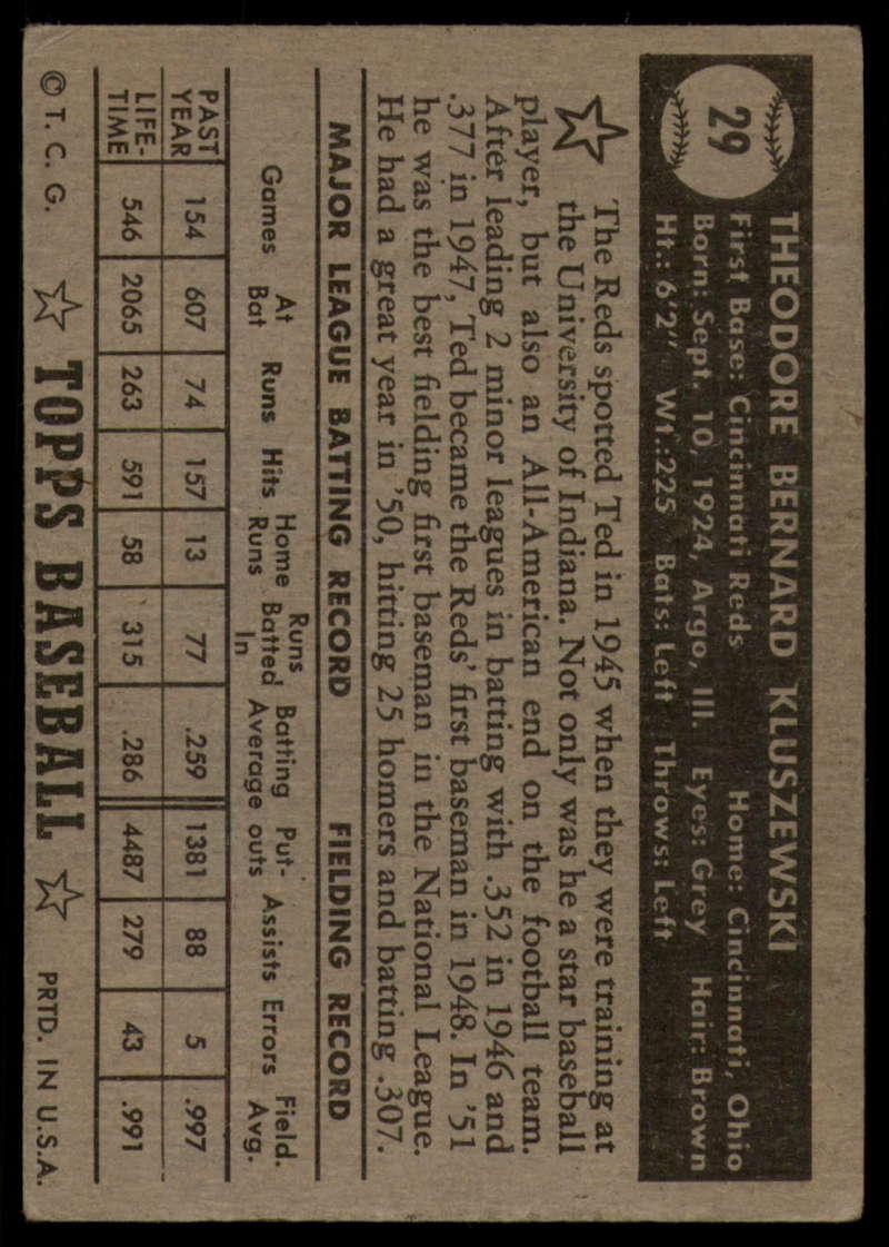 1952-Topps-Baseball-Black-Back-1-45-Complete-your-set-Pick-your-card thumbnail 151