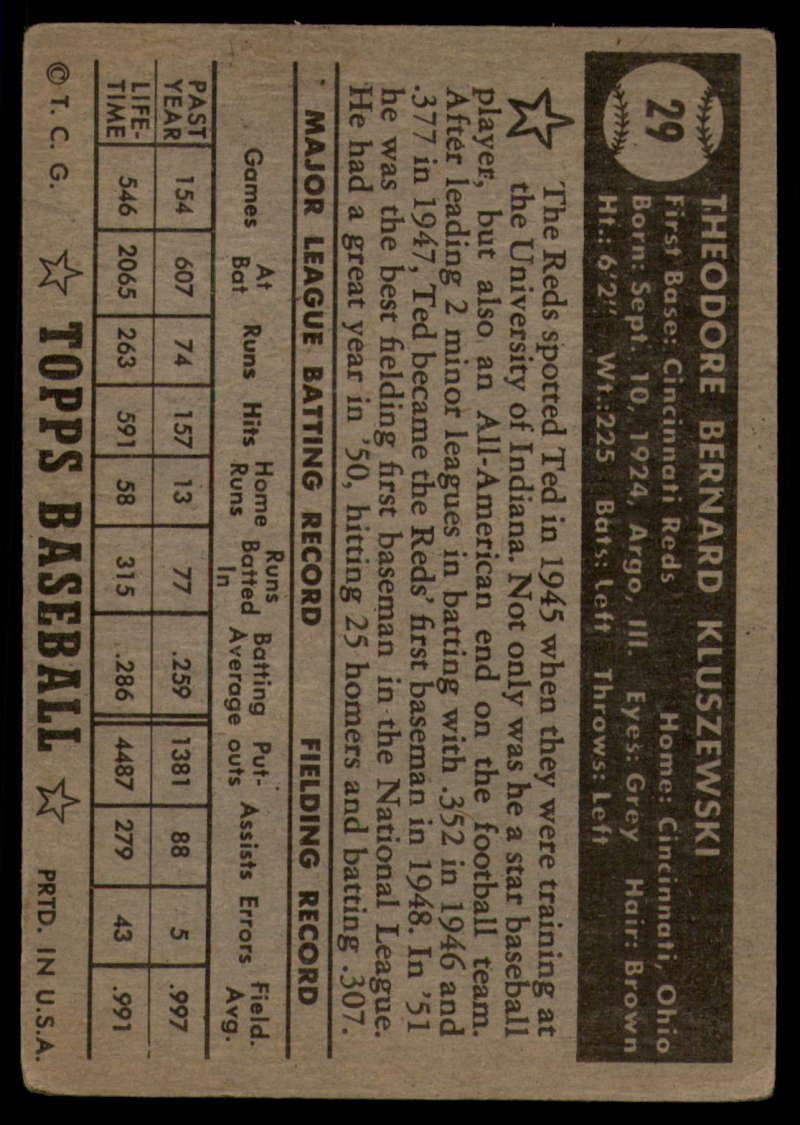 1952-Topps-Baseball-Black-Back-1-45-Complete-your-set-Pick-your-card thumbnail 153