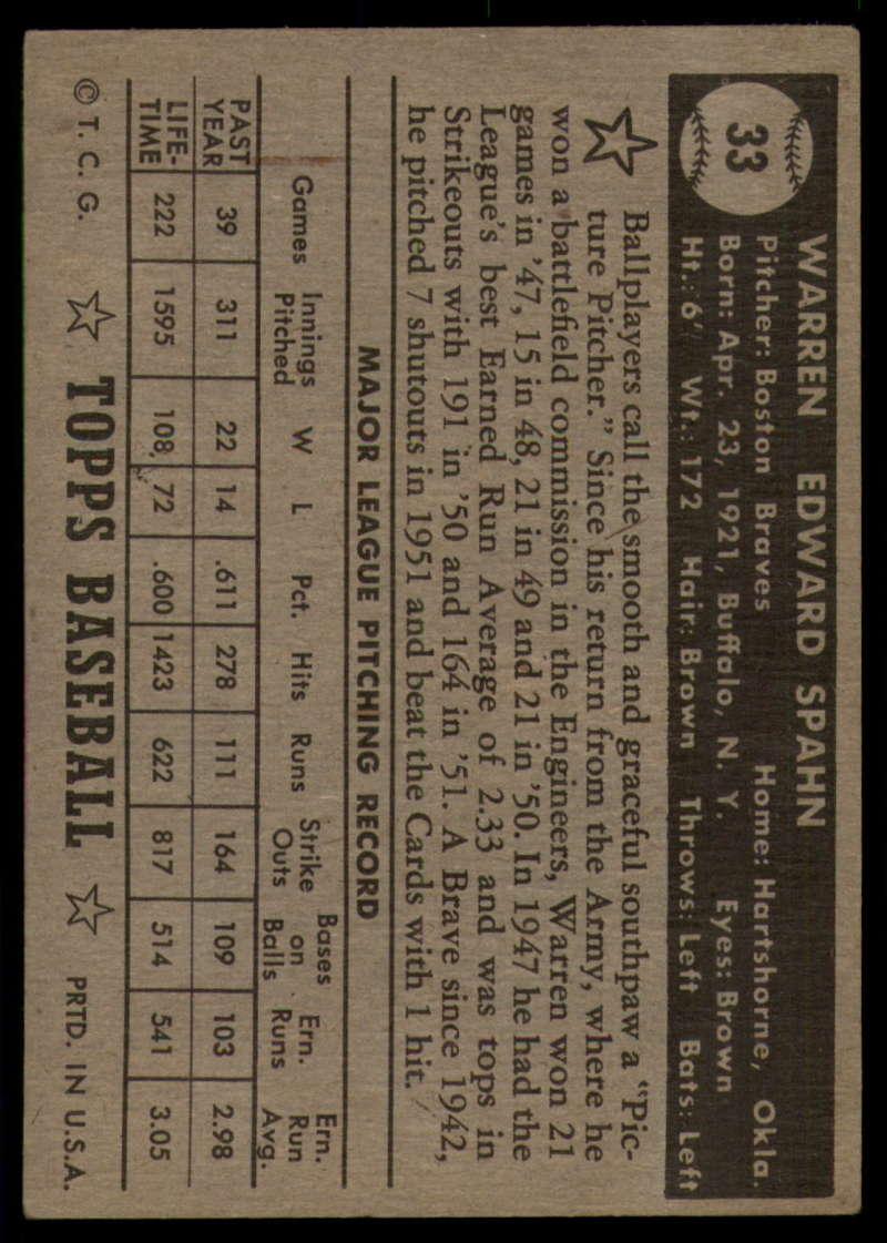 1952-Topps-Baseball-Black-Back-1-45-Complete-your-set-Pick-your-card thumbnail 193