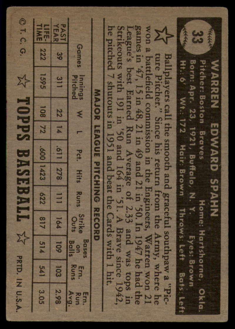 1952-Topps-Baseball-Black-Back-1-45-Complete-your-set-Pick-your-card thumbnail 197