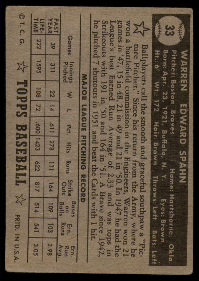 1952-Topps-Baseball-Black-Back-1-45-Complete-your-set-Pick-your-card thumbnail 199