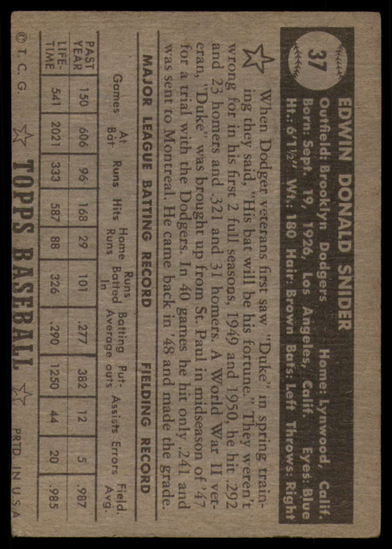 1952-Topps-Baseball-Black-Back-1-45-Complete-your-set-Pick-your-card thumbnail 231