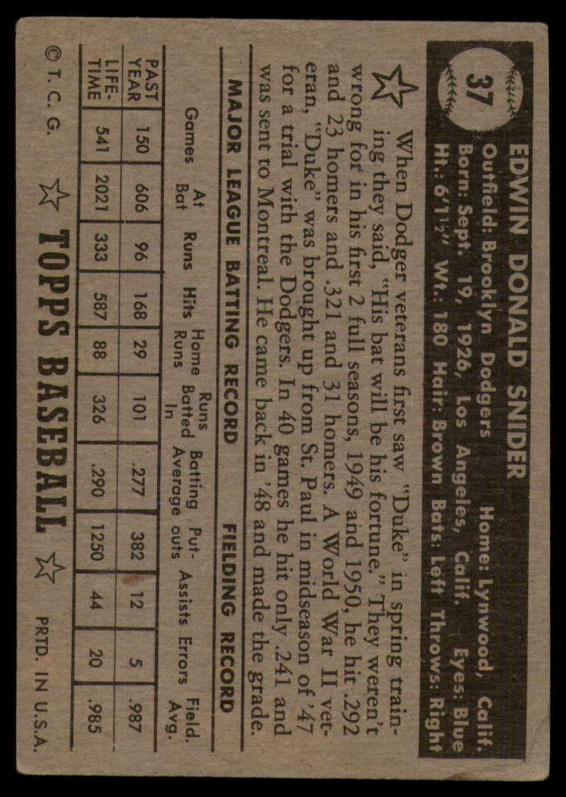 1952-Topps-Baseball-Black-Back-1-45-Complete-your-set-Pick-your-card thumbnail 235