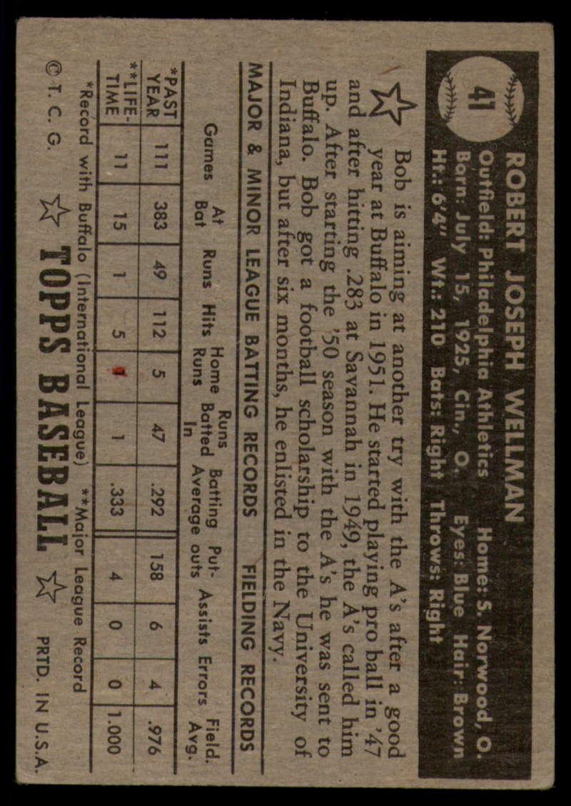 1952-Topps-Baseball-Black-Back-1-45-Complete-your-set-Pick-your-card thumbnail 265