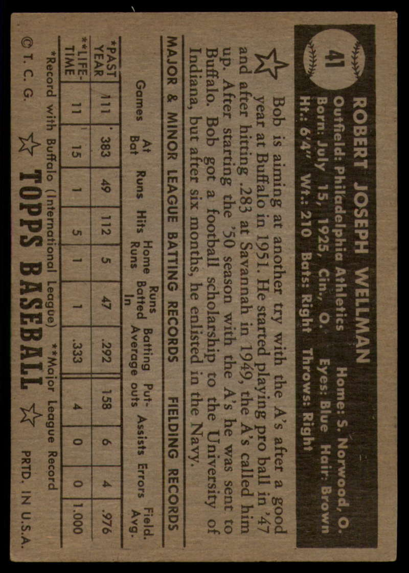 1952-Topps-Baseball-Black-Back-1-45-Complete-your-set-Pick-your-card thumbnail 271
