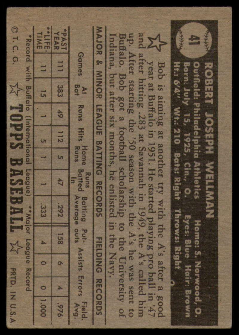 1952-Topps-Baseball-Black-Back-1-45-Complete-your-set-Pick-your-card thumbnail 263
