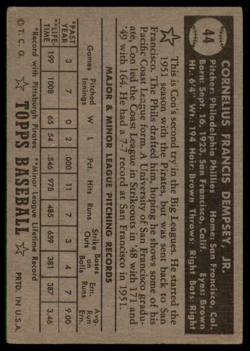 1952-Topps-Baseball-Black-Back-1-45-Complete-your-set-Pick-your-card thumbnail 291