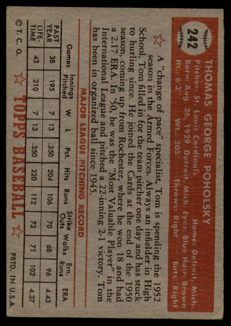 1952-Topps-Baseball-241-407-Complete-your-set-Pick-your-card thumbnail 13
