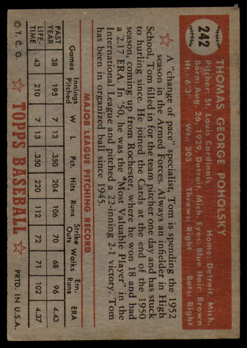 1952-Topps-Baseball-241-407-Complete-your-set-Pick-your-card thumbnail 15
