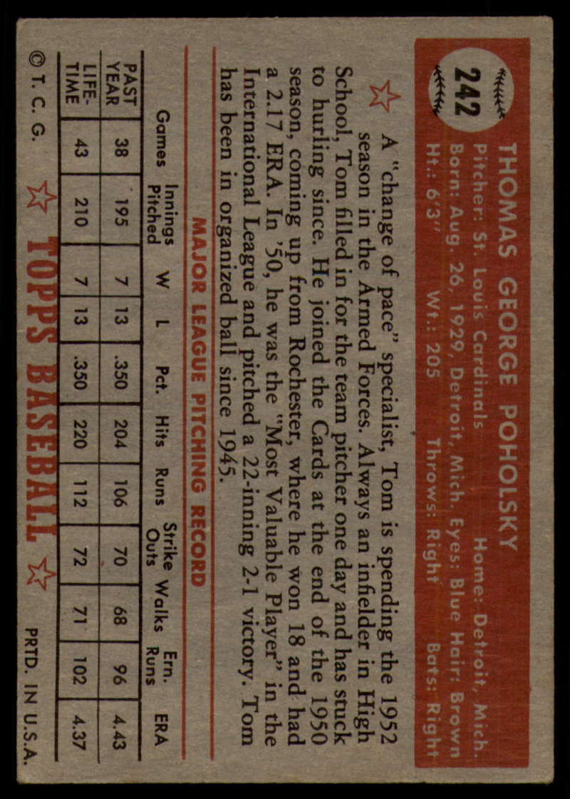 1952-Topps-Baseball-241-407-Complete-your-set-Pick-your-card thumbnail 17