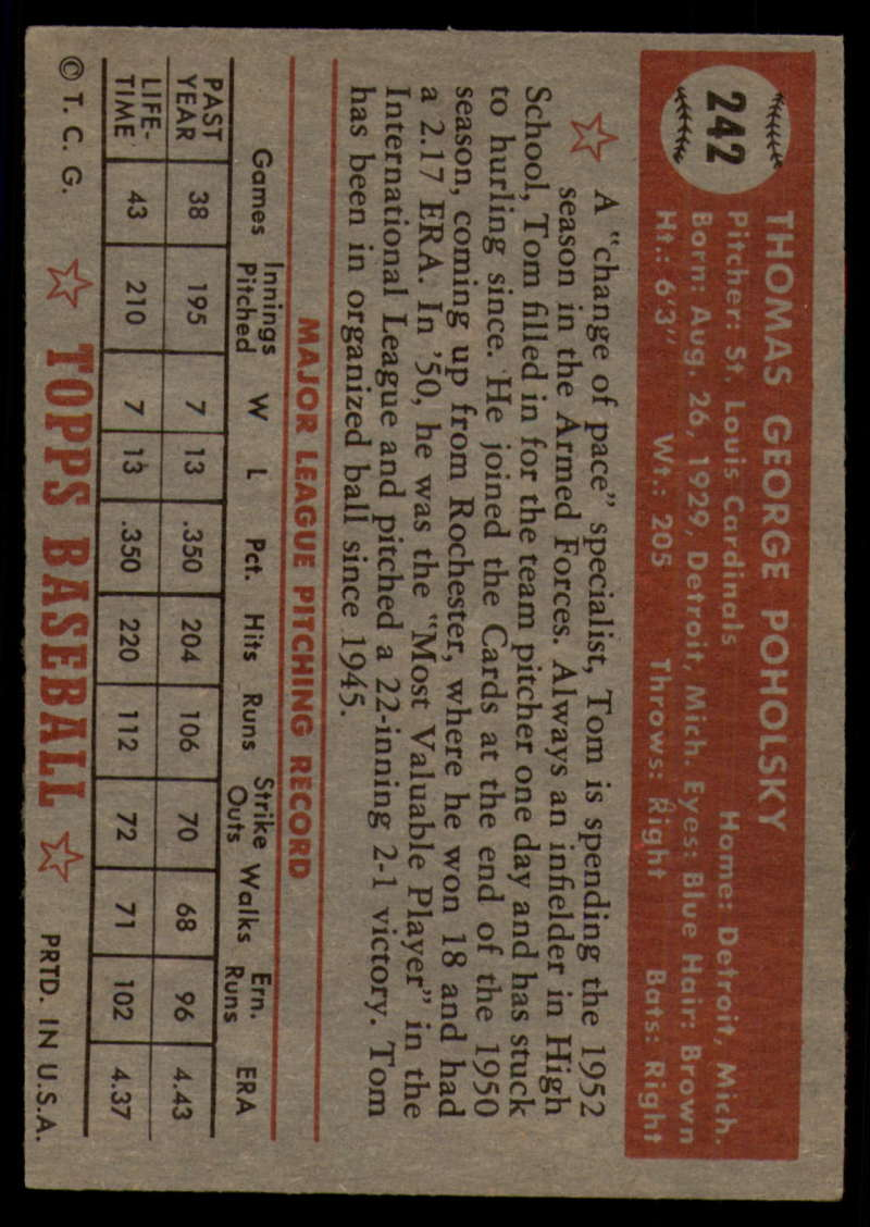 1952-Topps-Baseball-241-407-Complete-your-set-Pick-your-card thumbnail 19