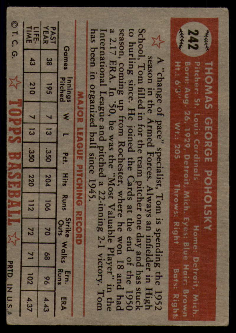 1952-Topps-Baseball-241-407-Complete-your-set-Pick-your-card thumbnail 21