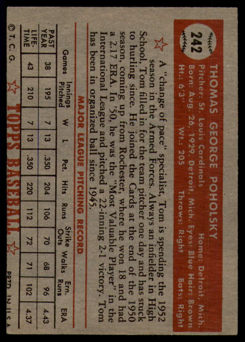 1952-Topps-Baseball-241-407-Complete-your-set-Pick-your-card thumbnail 23
