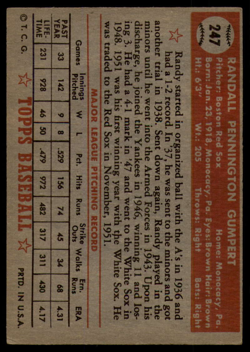 1952-Topps-Baseball-241-407-Complete-your-set-Pick-your-card thumbnail 53