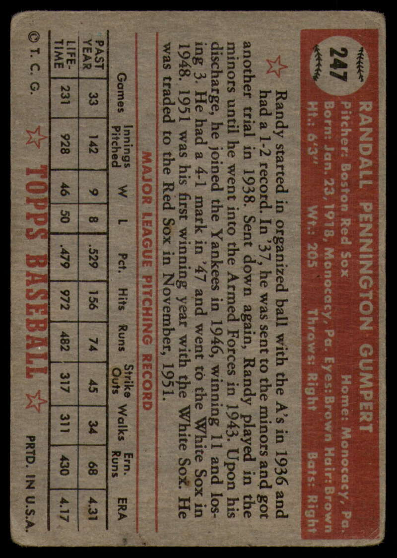 1952-Topps-Baseball-241-407-Complete-your-set-Pick-your-card thumbnail 55