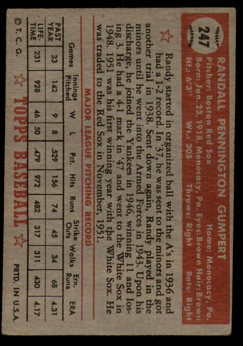 1952-Topps-Baseball-241-407-Complete-your-set-Pick-your-card thumbnail 57