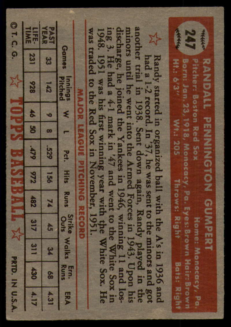 1952-Topps-Baseball-241-407-Complete-your-set-Pick-your-card thumbnail 59