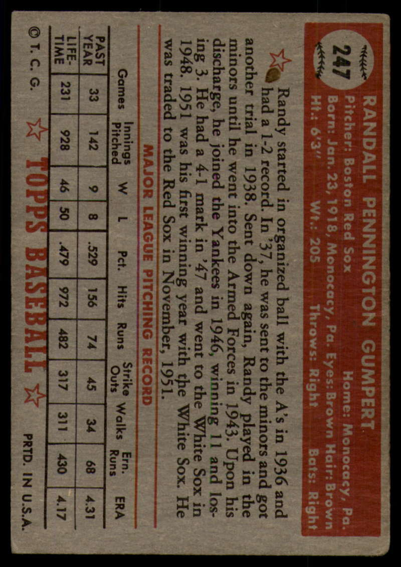 1952-Topps-Baseball-241-407-Complete-your-set-Pick-your-card thumbnail 65