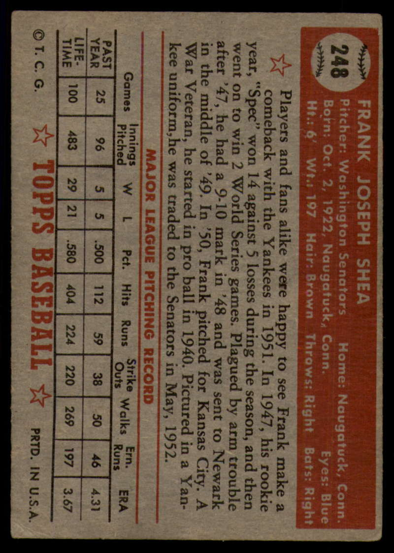 1952-Topps-Baseball-241-407-Complete-your-set-Pick-your-card thumbnail 67