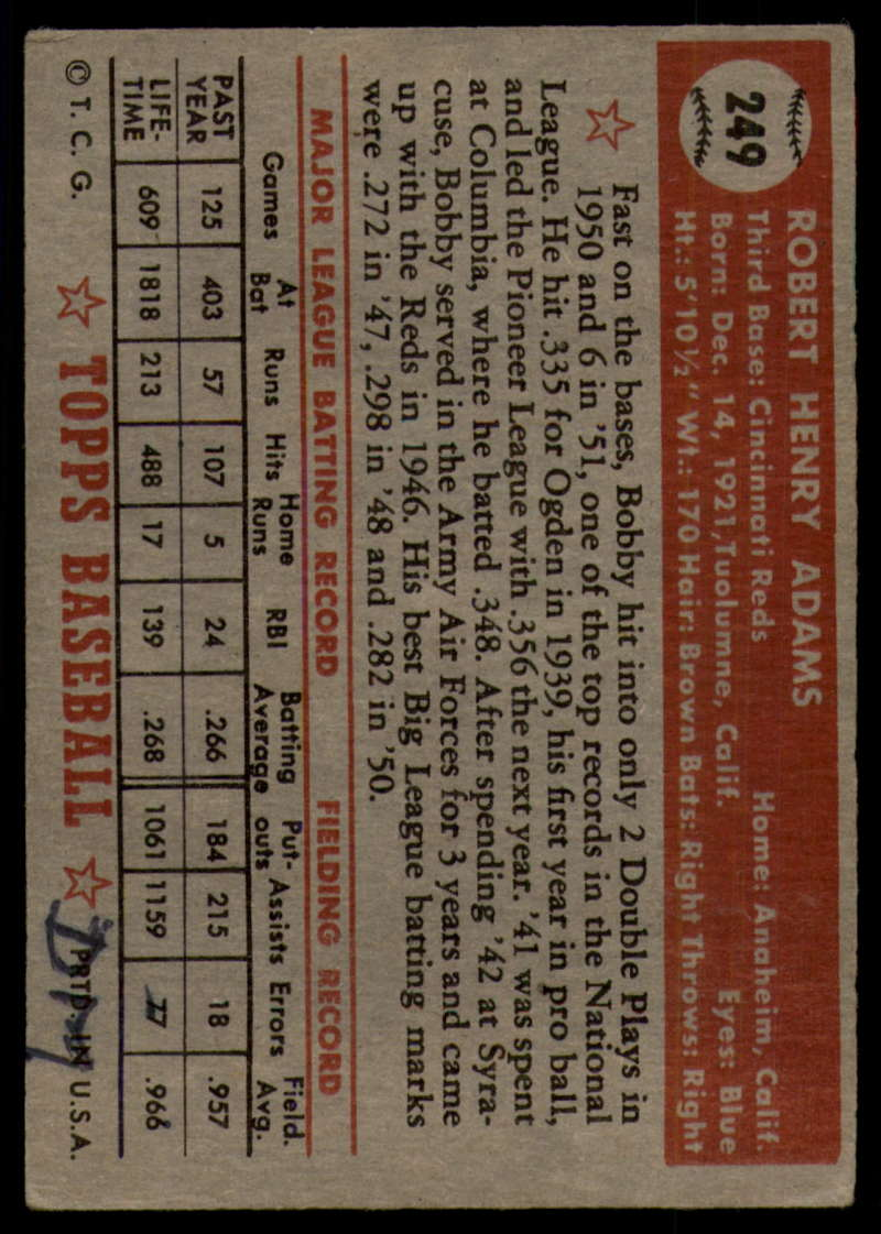 1952-Topps-Baseball-241-407-Complete-your-set-Pick-your-card thumbnail 75