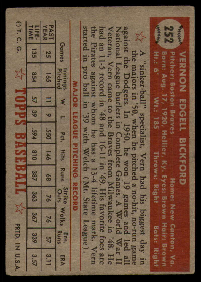 1952-Topps-Baseball-241-407-Complete-your-set-Pick-your-card thumbnail 91