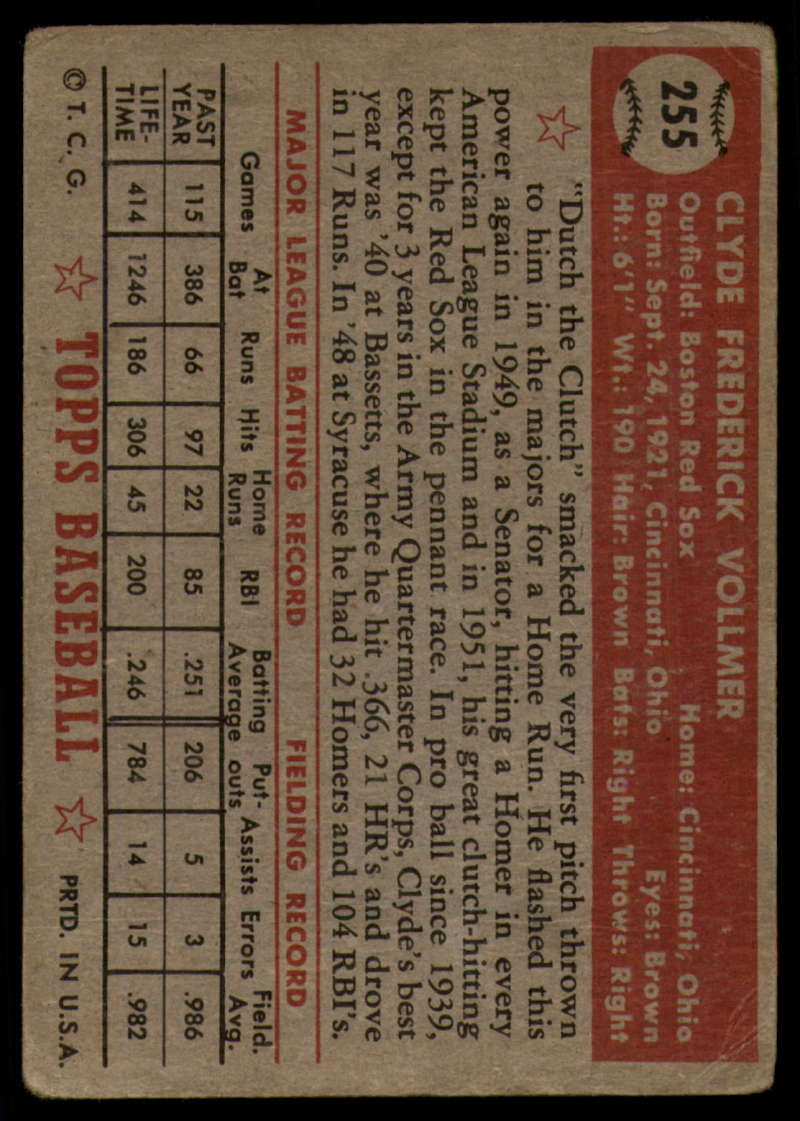 1952-Topps-Baseball-241-407-Complete-your-set-Pick-your-card thumbnail 113