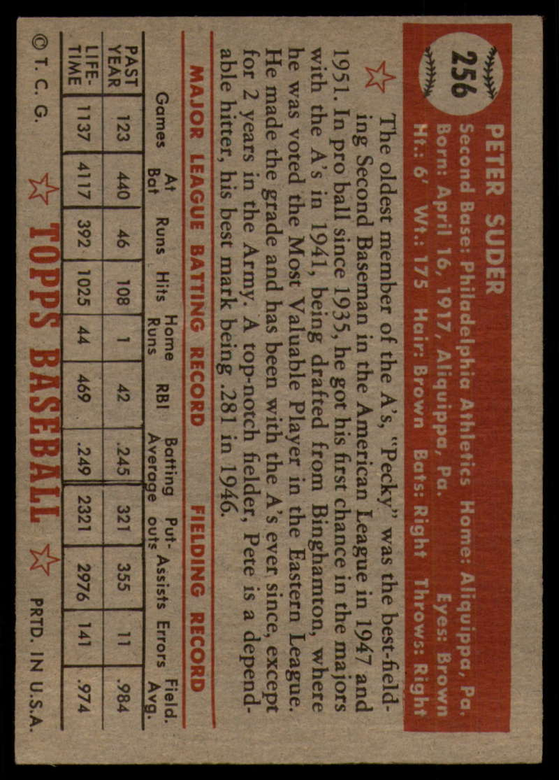 1952-Topps-Baseball-241-407-Complete-your-set-Pick-your-card thumbnail 125