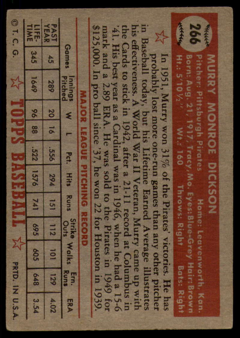 1952-Topps-Baseball-241-407-Complete-your-set-Pick-your-card thumbnail 181