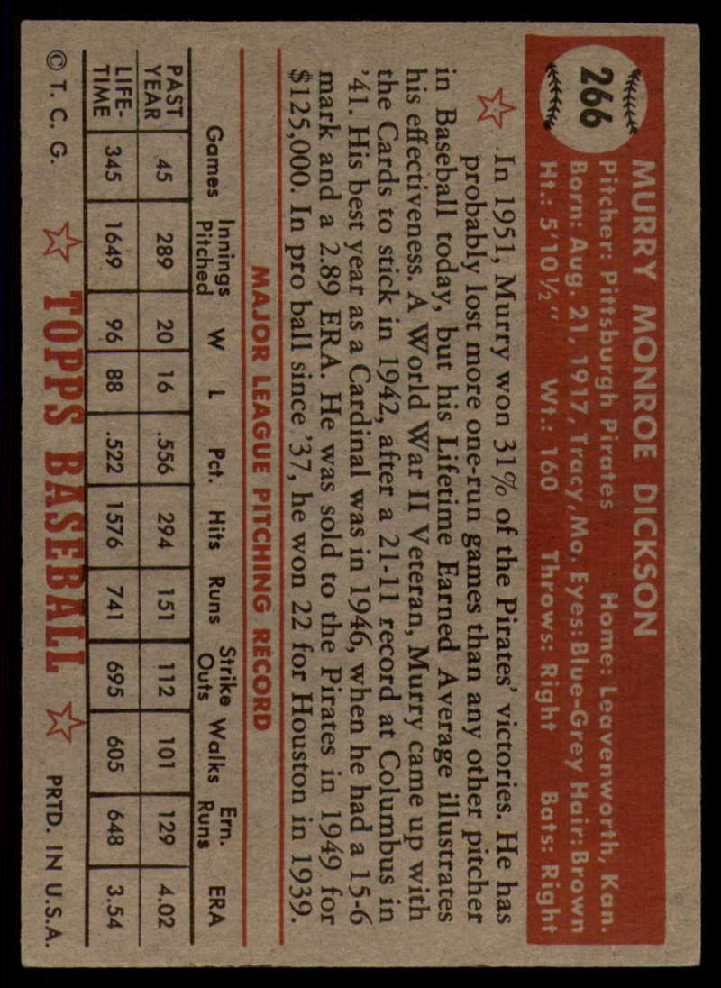 1952-Topps-Baseball-241-407-Complete-your-set-Pick-your-card thumbnail 183