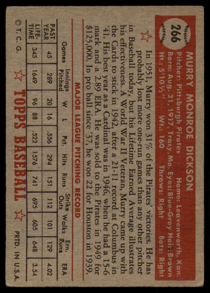 1952-Topps-Baseball-241-407-Complete-your-set-Pick-your-card thumbnail 185
