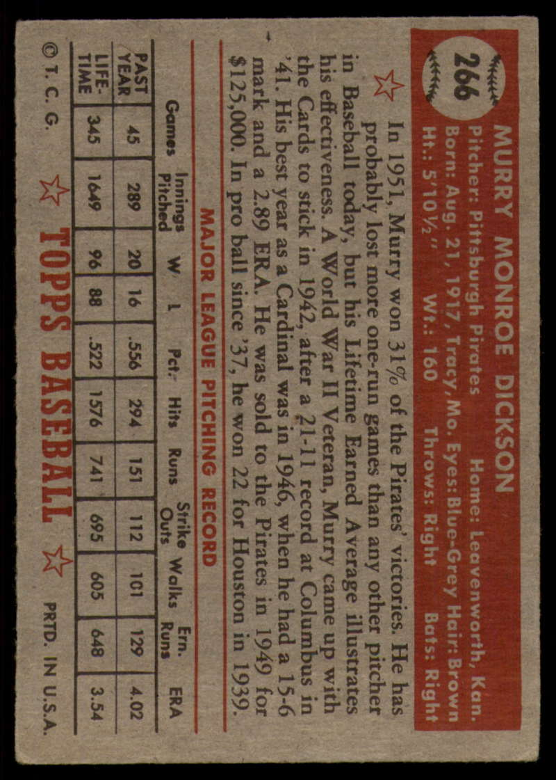 1952-Topps-Baseball-241-407-Complete-your-set-Pick-your-card thumbnail 187