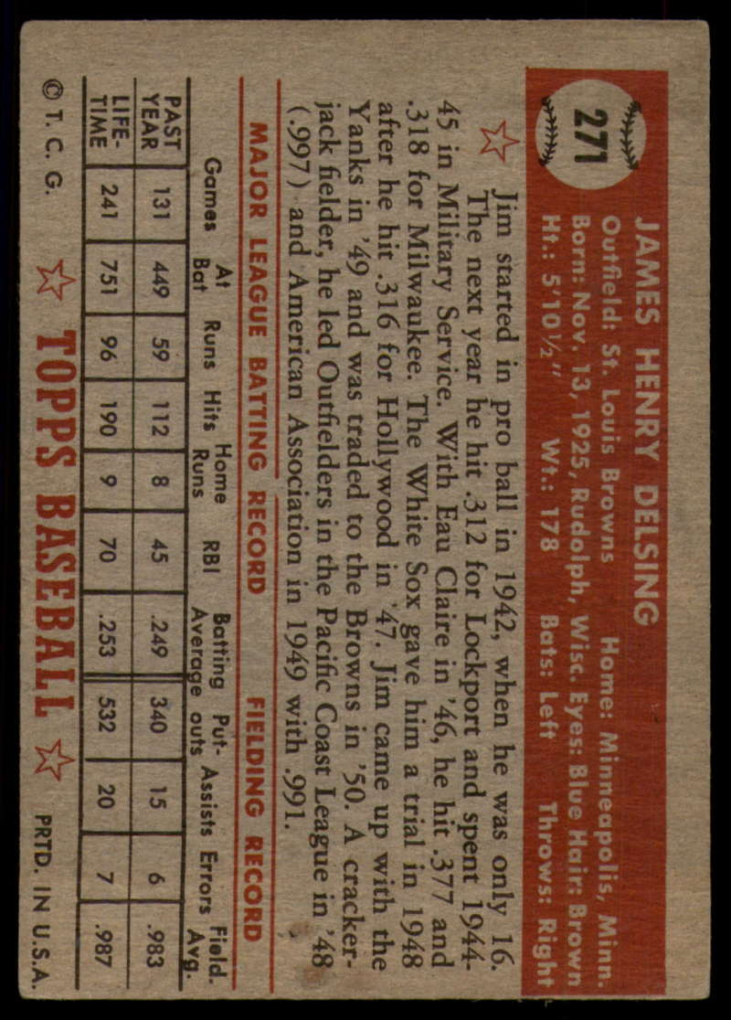 1952-Topps-Baseball-241-407-Complete-your-set-Pick-your-card thumbnail 217