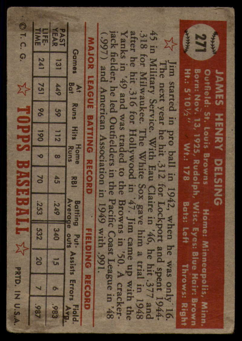 1952-Topps-Baseball-241-407-Complete-your-set-Pick-your-card thumbnail 219