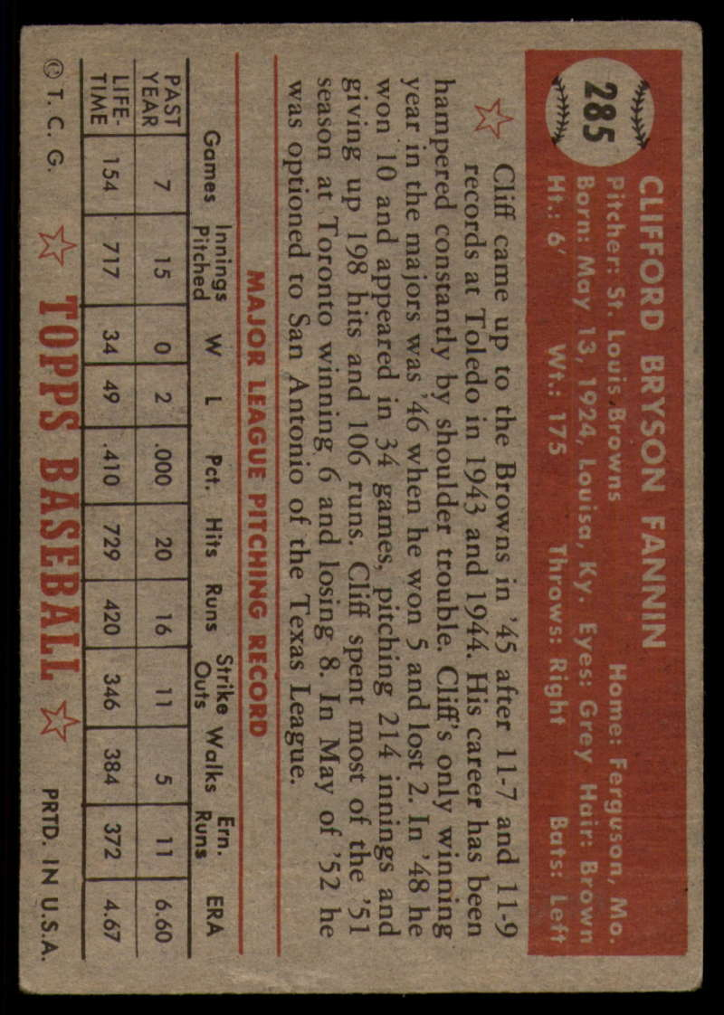 1952-Topps-Baseball-241-407-Complete-your-set-Pick-your-card thumbnail 231