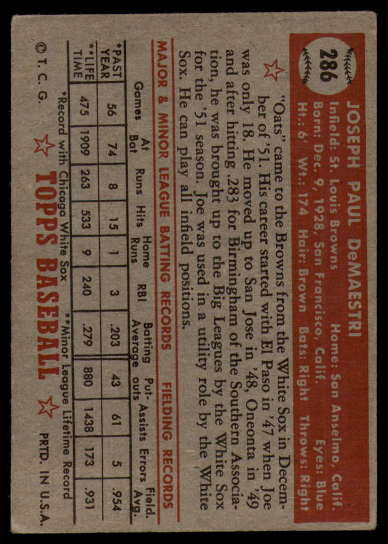 1952-Topps-Baseball-241-407-Complete-your-set-Pick-your-card thumbnail 233