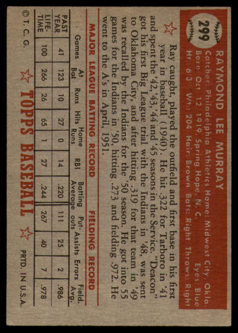 1952-Topps-Baseball-241-407-Complete-your-set-Pick-your-card thumbnail 253