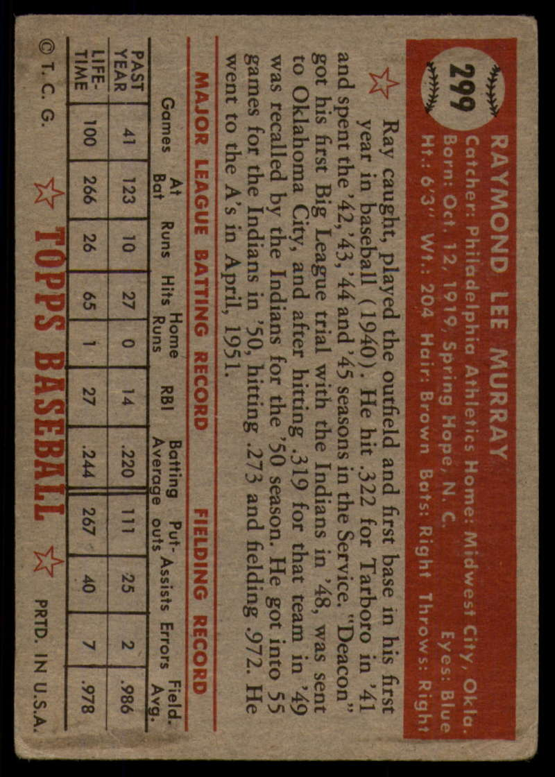 1952-Topps-Baseball-241-407-Complete-your-set-Pick-your-card thumbnail 255