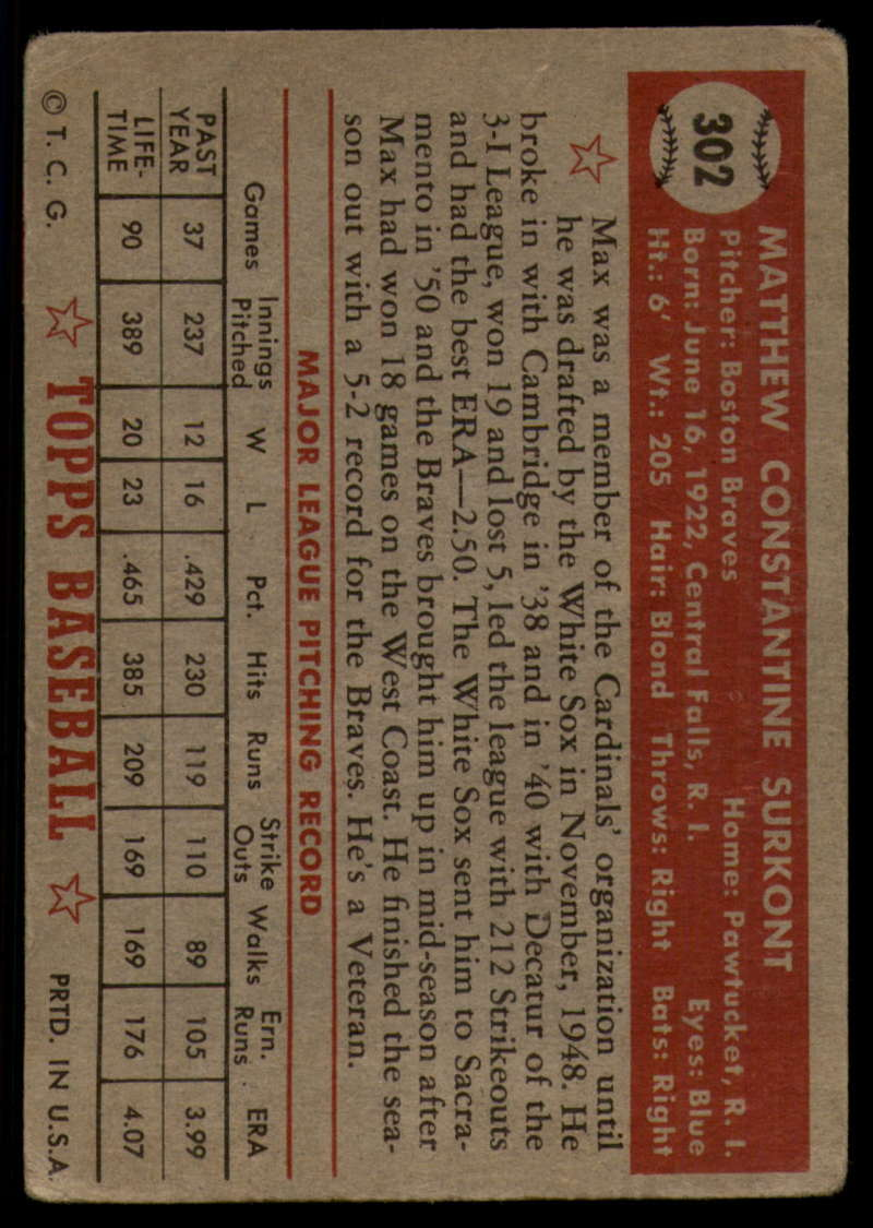1952-Topps-Baseball-241-407-Complete-your-set-Pick-your-card thumbnail 263