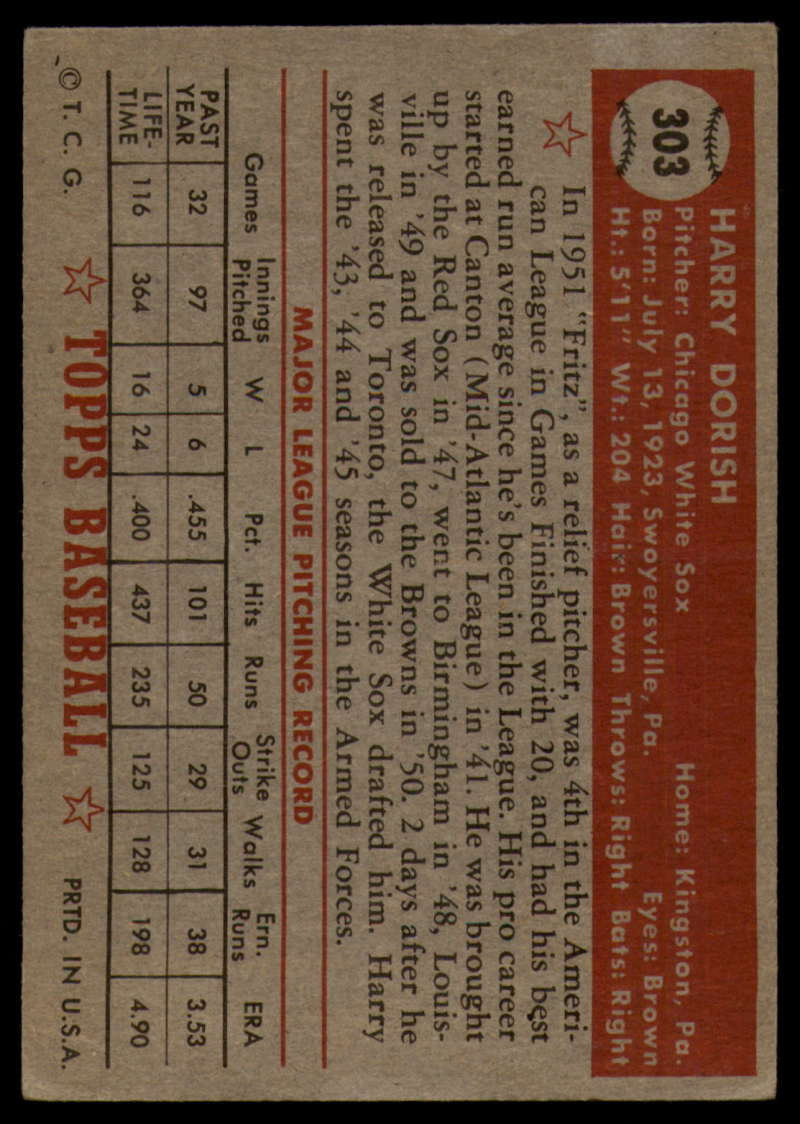 1952-Topps-Baseball-241-407-Complete-your-set-Pick-your-card thumbnail 265