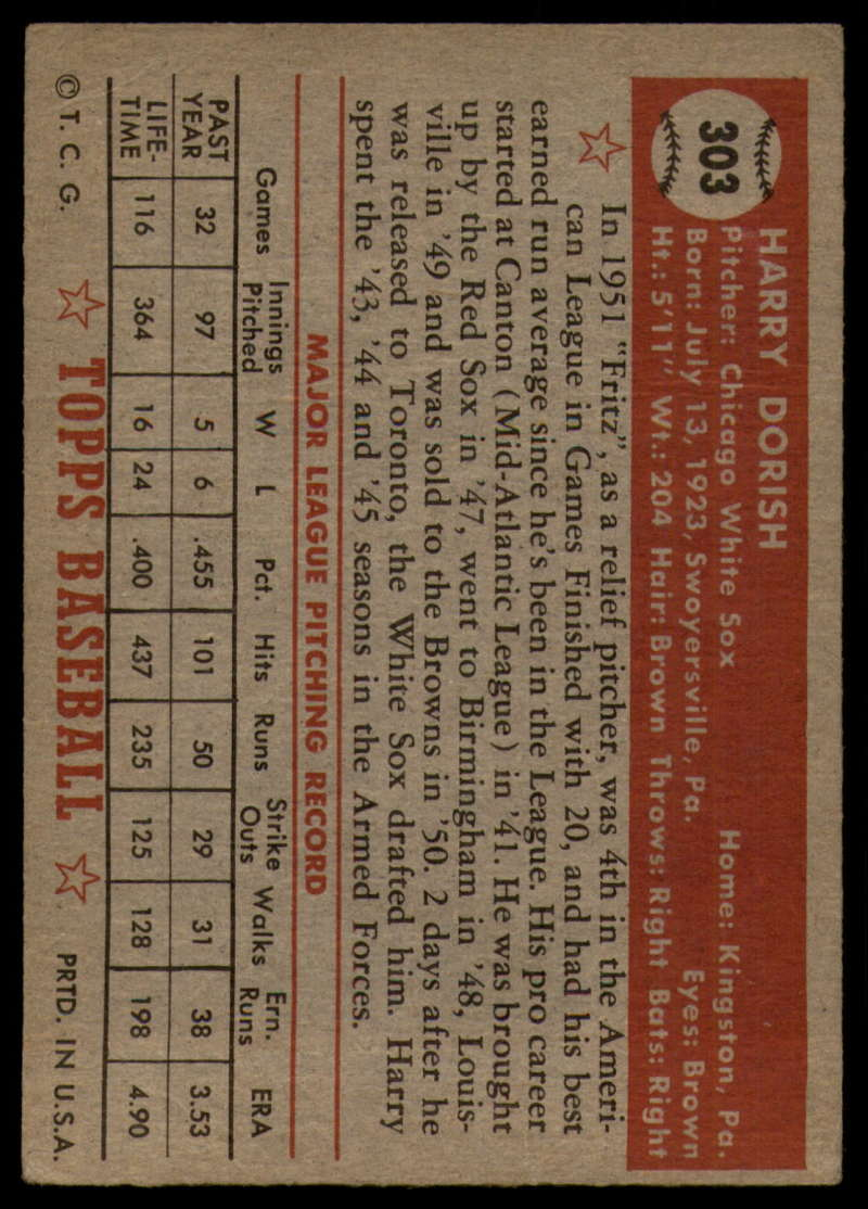 1952-Topps-Baseball-241-407-Complete-your-set-Pick-your-card thumbnail 267
