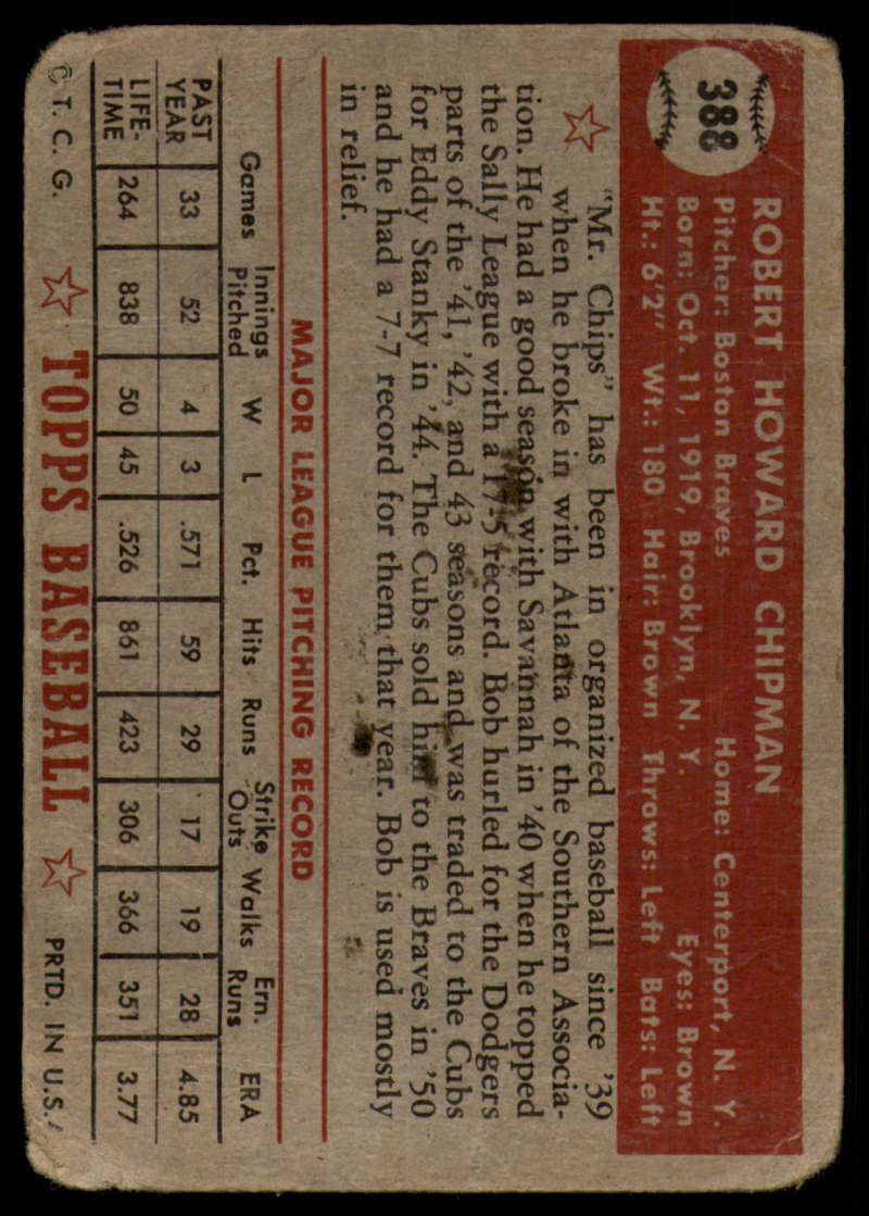 1952-Topps-Baseball-241-407-Complete-your-set-Pick-your-card thumbnail 289