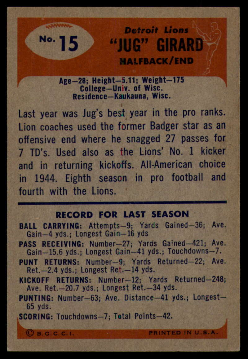 1955-Bowman-Football-1-70-Complete-your-set-Pick-your-card thumbnail 71